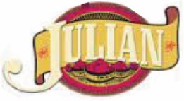 Julian Logo with red circle background